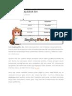 Cara Menghitung Effect Size