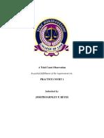 Court Observation Report Prac Court