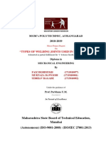 Types of welding joints report