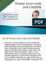 Fix HP Printer Error Code 0x610000f6-Converted