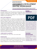 Assessment & Development Centre Workshop Factsheet