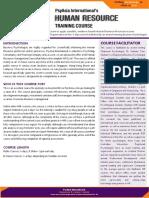 HRM Course Factsheet