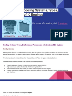 IC Engines-Cooling Systems,Types, Lubrication of IC Engines