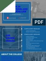 LLM in International and Commercial Law - Lloyd Law College
