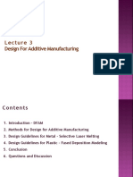 Lecture 3 Design for Additive Manufacturing