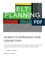 35 Ways to Introduce Your Lesson Topic _ ELT Planning