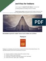 Iceland Visa for Indians
