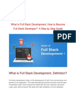 What is Full Stack Development, How to Become Full Stack Developer?  A Step by Step Guide