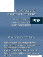 Neonatal and Paediatric Anatomy and Physiology