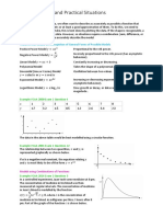 Modelling Data and Practical Situations