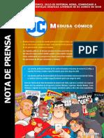 Nota de Prensa Dc - Medusa Cómics