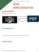 Desenvolver Capacidades Psíquicas Lunares – CosmoPaganismo