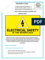 Electrical safety Theme - December 2019