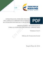 Modelo Atención psicosocial a Víctimas del Conflicto Armado en Colombia