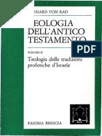 Von Rad Gerhard - Teologia dell'Antico Testamento 02 - Teologia delle tradizioni profetiche d'Israele