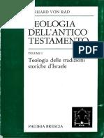 Von Rad Gerhard - Teologia dell'Antico Testamento 01 - Teologia delle tradizioni storiche d'Israele