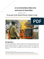 UN Special Report on ASMT Persecution