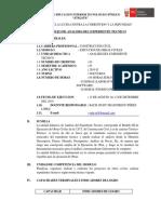 SILABUS DE ANALISIS DEL EXPEDIENTE TECNICO