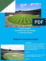 Cricket Stadium PPT by Dia Fulfagar