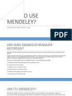 HOW TO USE MENDELEY