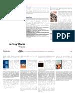 Biography of Jeffrey Weeks