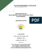 Computer Architecture-QBANK