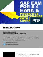 SAP EAM for S4HANA -Preditive Maintenance with SAP LEONARDO