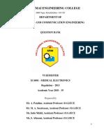Medical Electronics-QBANK