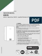 Bosch Therm 830ES Installaion Manual