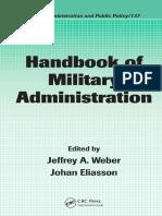 Epdf.pub Handbook of Military Administration Public Adminis