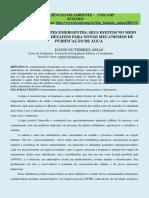 CONTAMINANTES EMERGENTES PURIFICAÇÃO ÁGUA