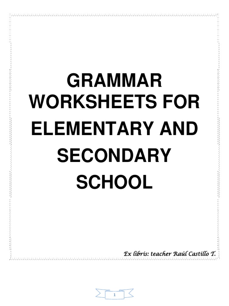 272689449 Grammar Worksheets Verb Grammatical Tense [ 1024 x 768 Pixel ]