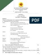 CL 11 English Lit 1st Term Exam