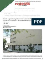Sessão urgente do parlamento_ Comissão Permanente da AR decide na próxima semana sobre pedido da Renamo