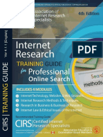 Advanced Research Training Course Outline 4th Edition