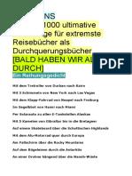 KLAUSENS Weitere 1000 Ultimative Vorschläge Für Extremste Reisebücher Als Durchquerungsbücher Stand 13-12-2019