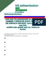 KLAUSENS Seltsamlexikon Stand 13-12-2019
