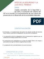 Diapositiva de Seguridad y Salud en El Trabajo 2018