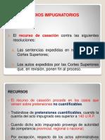Medios Impugnatorios-Recursos. Requisitos de admisibilidad y procedencia. Principios jurisprudenciales.