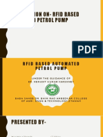 Presentation on- Rfid Based Automated Petrol Pump