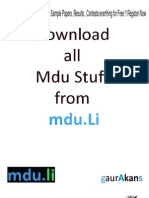 Mdu IT Full Syllabus