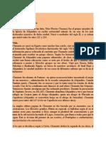 Clemente de Alejandría (Siglo II-211-216) Datos