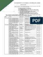 B.Tech date sheet_051219