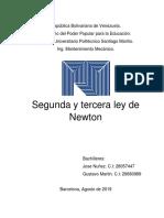 SEGUNDA Y TERCERA LEY DE NEWTON
