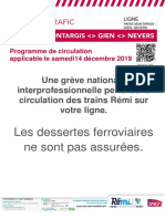 Info Trafic Paris Nevers 14 Decembre 2019