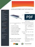 Solar Streetlight 30W