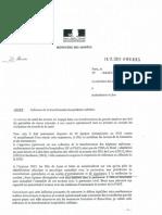 La lettre de Florence Parly sur l'hôpital Legouest de Metz
