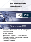 Case Method of Teaching and Learning In Management- case analysis process