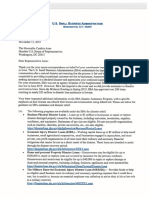 Letter from the U.S. Small Business Administration 11.15.19
