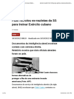 Fidel Recrutou Ex-nazistas Da SS Para Treinar Exército Cubano